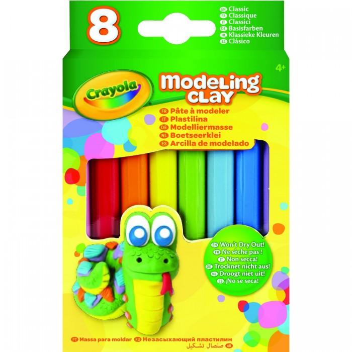 Всё для лепки Crayola Незасыхающий пластилин Классика, 8 цв пластилин детский классика 16 цветов 20с 1329 08