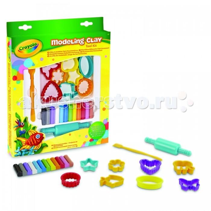 Всё для лепки Crayola Набор с незасыхающим пластилином всё для лепки lori набор для рисования пластилином полосатая рыбка объёмная картина