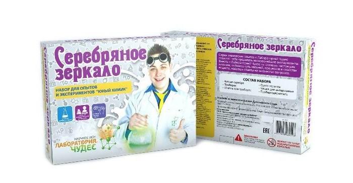 Наборы для творчества Инновации для детей Набор Юный химик. Серебряное зеркало