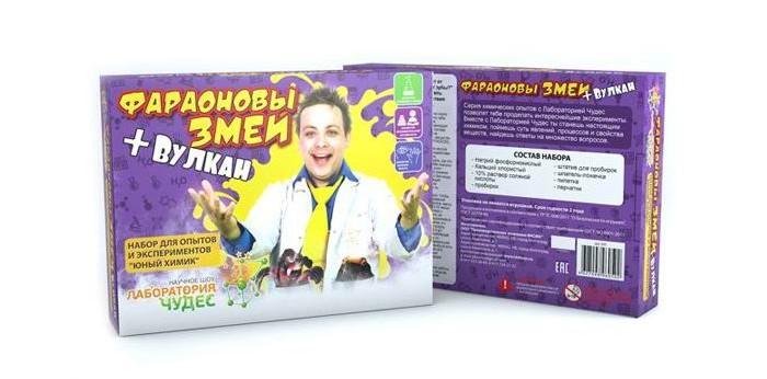 все цены на  Наборы для творчества Инновации для детей Набор Юный химик. Фараоновы змеи и вулкан  онлайн