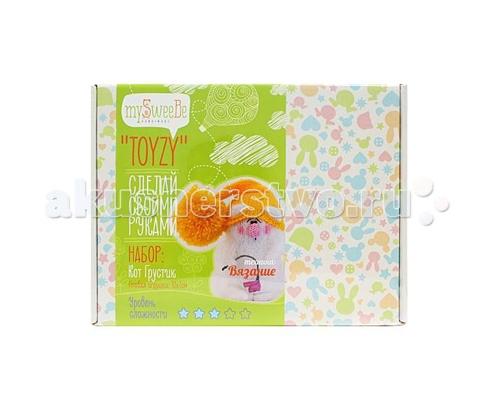 Наборы для творчества ToyzyKit Набор для вязания Кот грустик пряжа для вязания alize sal abiye цвет бордовый 390 410 м 100 г 5 шт
