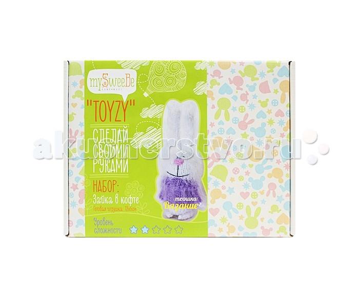 Наборы для творчества ToyzyKit Набор для вязания Зайка в кофте пряжа для вязания alize sal abiye цвет бордовый 390 410 м 100 г 5 шт