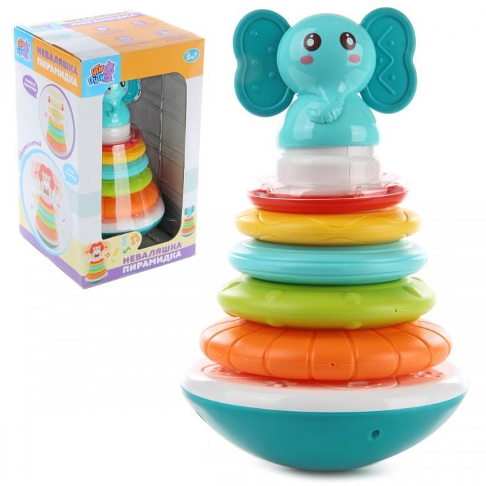 Купить Развивающие игрушки, Развивающая игрушка Ути Пути Неваляшка Пирамидка-слоник