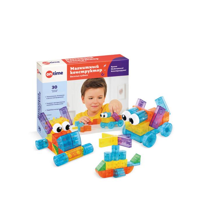Конструктор On Time магнитный Веселые кубики (30 деталей)