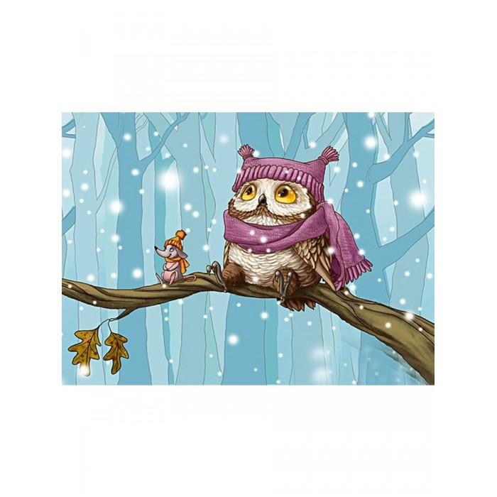 Картины по номерам Котеин Картина по номерам Совушка в лесу 30х20 см мозаика котеин маркетри картина на дереве лорд пес 20x20
