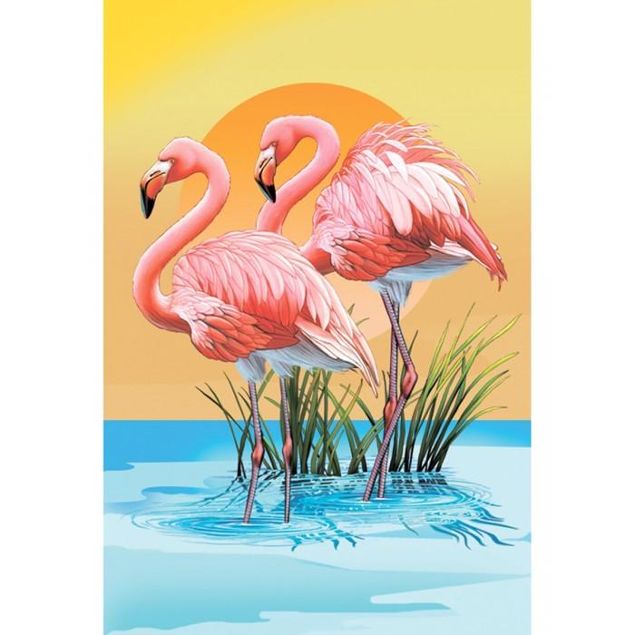 Картины по номерам Котеин Картина по номерам Розовый фламинго 30х20  см мозаика котеин маркетри картина на дереве лорд пес 20x20