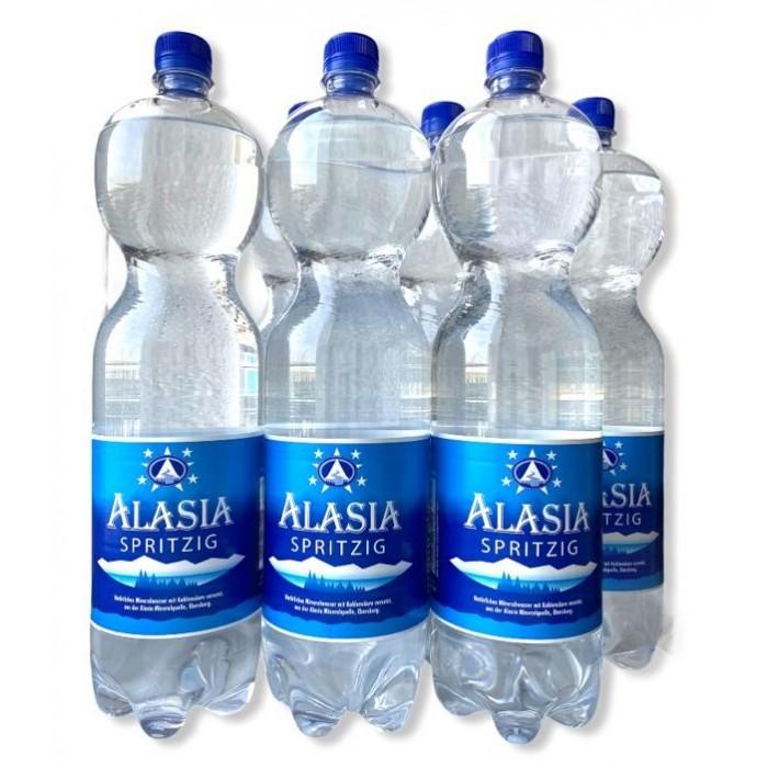 Alasia Природная вода Mineral Water Spritzig 1.5 л 6 шт.