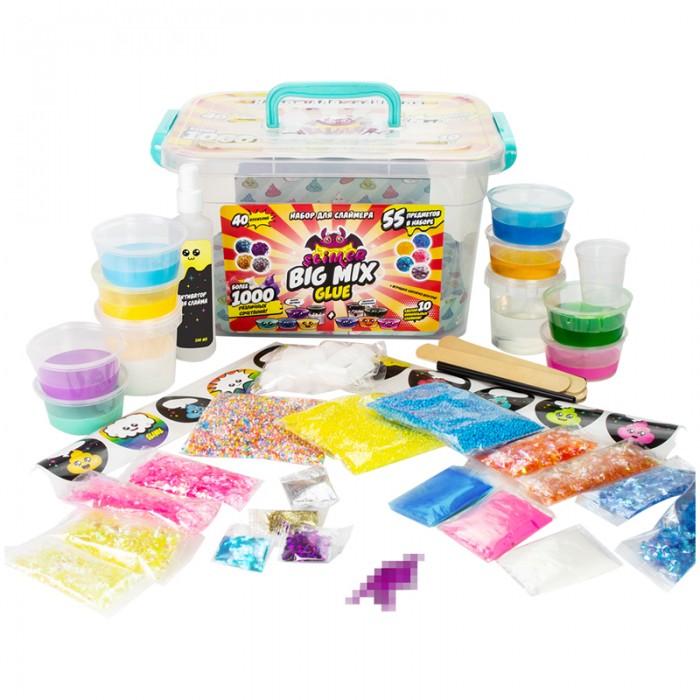 Наборы для опытов и экспериментов Фабрика Игрушек Набор создания слайма Slimer Big Mix Glue (55 элементов)