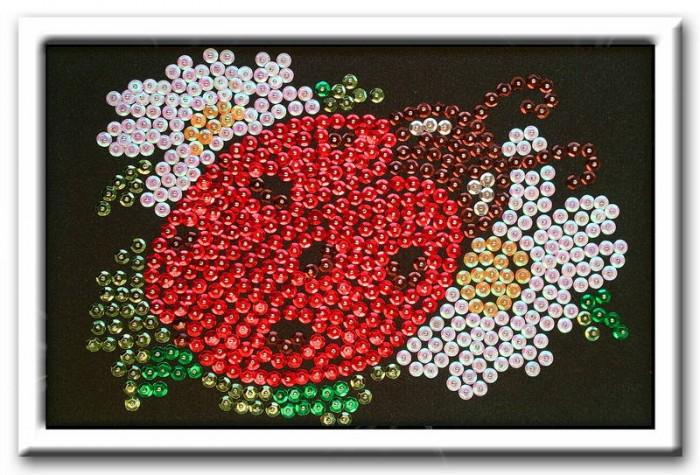 Наборы для творчества Волшебная мастерская Мозаика из пайеток Божья коровка мозаика божья коровка и пчелка 2 набора 97018