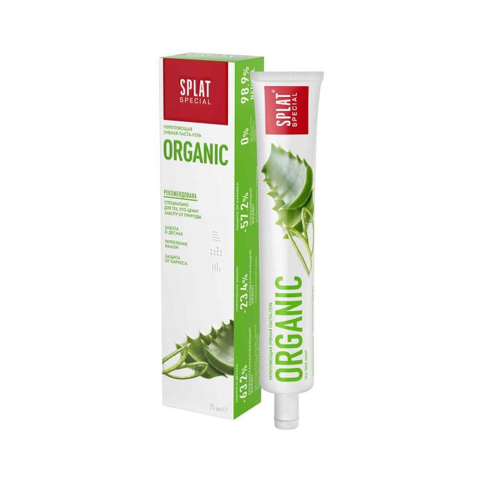 Гигиена полости рта Splat Special Зубная паста Органик 75 мл гигиена полости рта logona logodent травяная гелевая зубная паста с мятой 75 мл