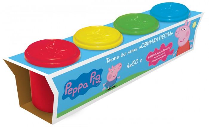Всё для лепки Свинка Пеппа (Peppa Pig) Тесто для лепки 4 цвета набор для лепки peppa pig свинка пеппа