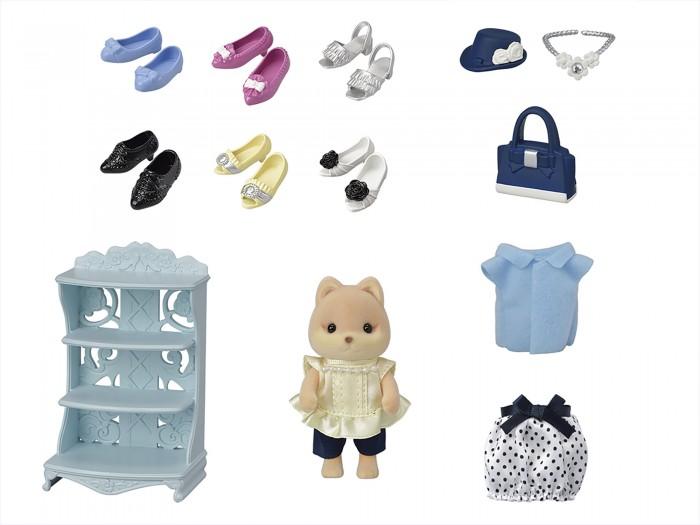 Игровые наборы Sylvanian Families Карамельная собачка модница и ее гардероб