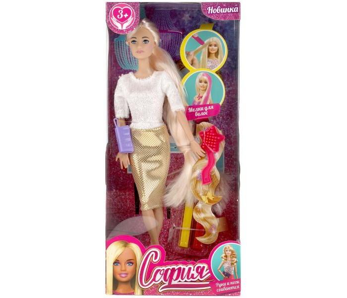 Картинка для Куклы и одежда для кукол Карапуз Кукла София с мелками для волос 29 см