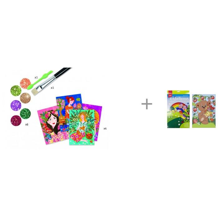 Картинка для Djeco Набор для творчества Аромат цветов и Картина по номерам Lori Мишка-сладкоежка