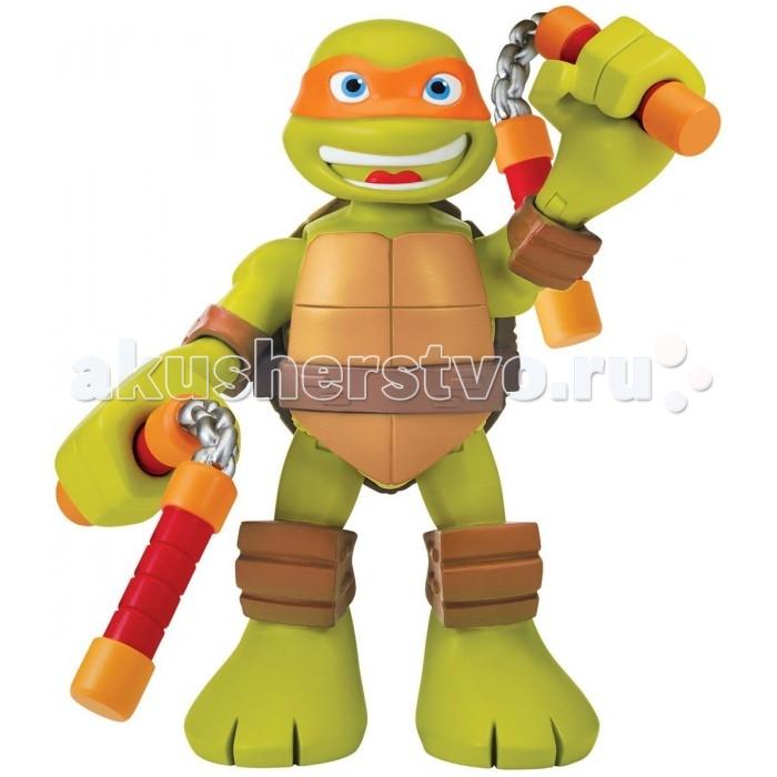 Игровые фигурки Turtles Говорящая фигурка Черепашки-ниндзя Микеланджело Half Shell Hero 15 см игровые фигурки turtles машинка черепашки ниндзя 7 см сплинтер на атаке сенсея