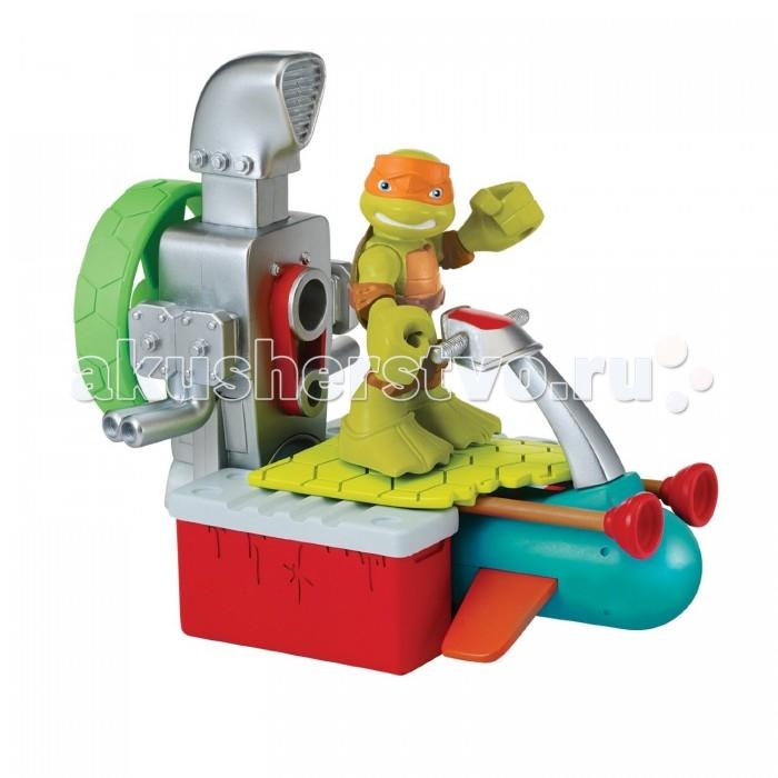 Игровые наборы Turtles Игровой набор Майки с гидроциклом Half Shell Hero turtles говорящая фигурка черепашки ниндзя леонардо half shell hero 15 см