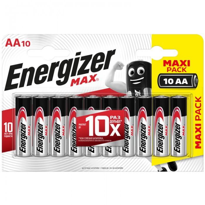 Батарейки, удлинители и переходники Energizer Батарейка Max АА (LR06) алкалиновая 10BL