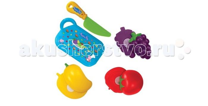 Ролевые игры Свинка Пеппа (Peppa Pig) Игровой набор фруктов и овощей 5 предметов игровой набор peppa pig набор посуды пеппа повар 20 предметов