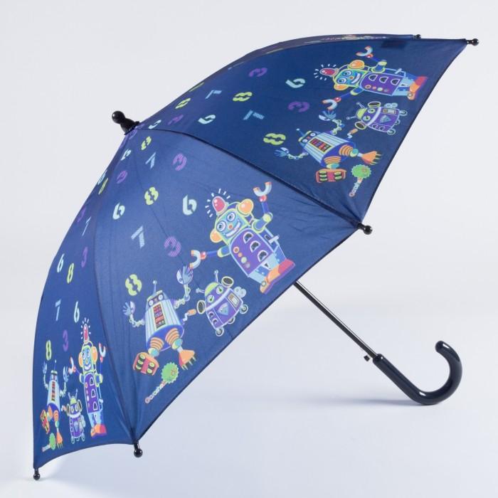 Зонт Goroshek детский трость, полуавтомат Роботы