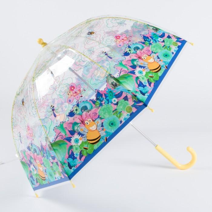 Зонт Goroshek детский трость, механика Пчёлы и бабочки