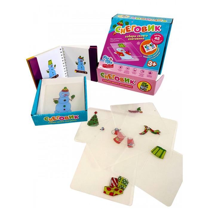 Картинка для Игры для малышей Pic`n Mix Развивающий пазл конструктор Микскод Снеговик