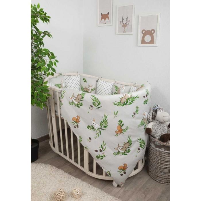 Фото - Комплекты в кроватку Сонный гномик Лес (4 предмета) комплекты в кроватку сонный гномик конфетти 6 предметов