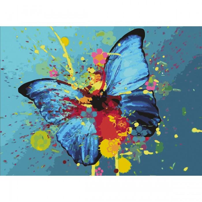 Остров Сокровищ Картина по номерам Голубая бабочка 40х50 см