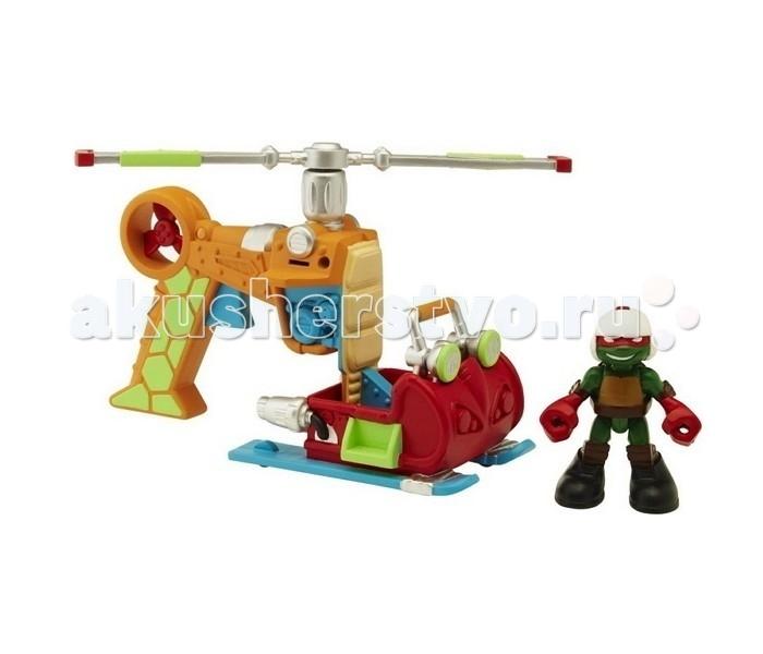 Игровые наборы Turtles Игровой набор Черепашки-ниндзя Раф с вертолетом Half Shell Hero игровые наборы tomy игровой набор приключения трактора джонни и лошади на ферме