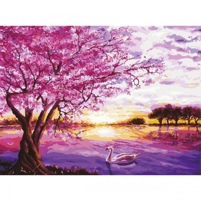 Остров Сокровищ Картина по номерам Цветущая сакура 40х50 см