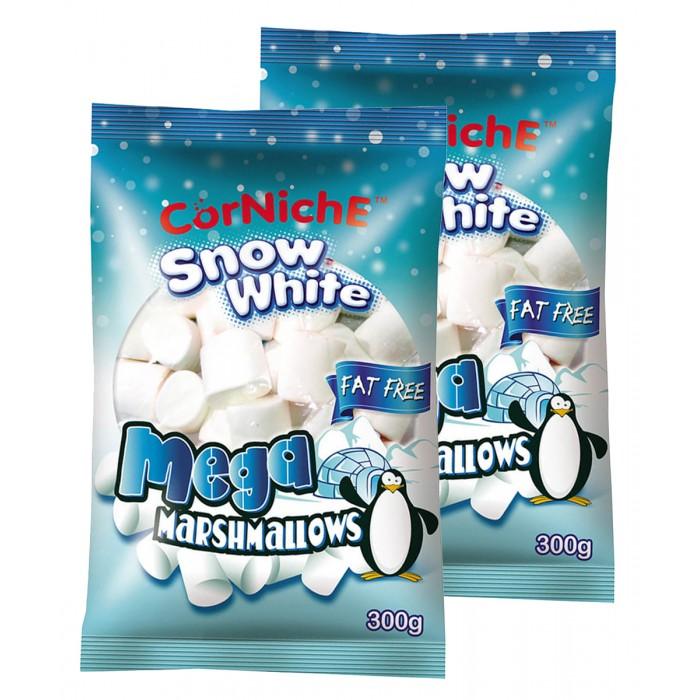 Зефир и пастила CorNiche Маршмеллоу большие Show White Marshmallow 120 г 2 шт. зефир и пастила corniche маршмеллоу большие mega marshmallow бело розовые 120 г 2 шт