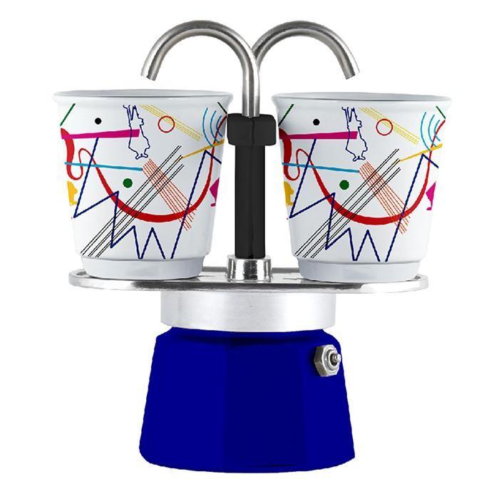 Бытовая техника Bialetti Гейзерная кофеварка Мини Экспресс Kandinsky 2 порции и 2 чашки