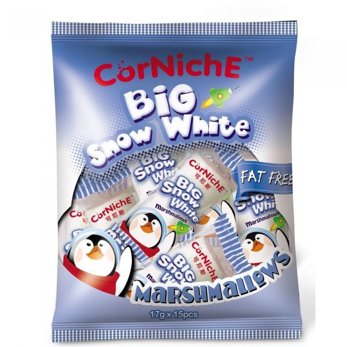 Зефир и пастила CorNiche Маршмеллоу большие Big Show White Marshmallow 15 шт. маршмеллоу corniche teddy яблоко 70 г