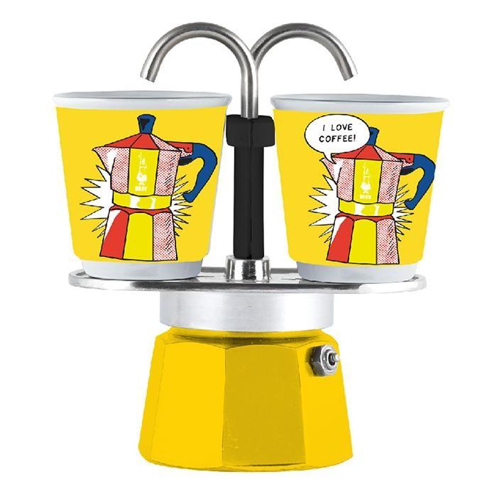 Бытовая техника Bialetti Гейзерная кофеварка Мини Экспресс Lichtenstein 2 порции и 2 чашки