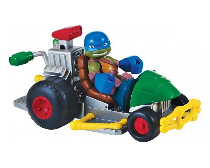 Игровые наборы Turtles Фигурка Черепашки-ниндзя  Лео с багги Half Shell Her игровой набор playmates toys патрульные багги леонардо и донателло