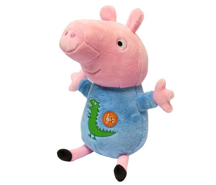 Мягкие игрушки Свинка Пеппа (Peppa Pig) Джордж 25 см мягкая игрушка peppa pig джордж с машинкой свинка розовый текстиль 18 см 29620