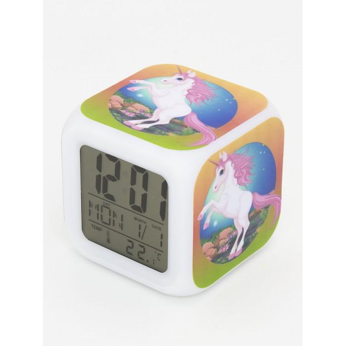 Картинка для Часы Mihi Mihi будильник Единорог с подсветкой №25