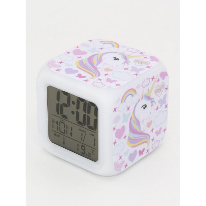 Картинка для Часы Mihi Mihi будильник Единорог с подсветкой №26