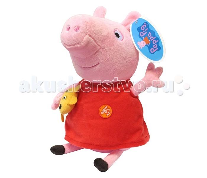 Мягкие игрушки Свинка Пеппа (Peppa Pig) Пеппа с игрушкой 30 см свинка пеппа посуды королевское чаепитие peppa pig