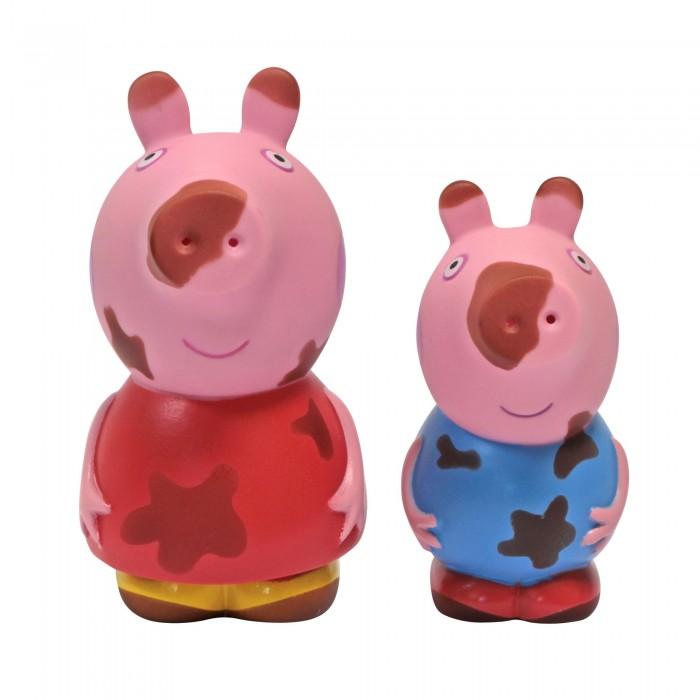 Игрушки для ванны Свинка Пеппа (Peppa Pig) Набор Чистюля или Грязнуля мягкая игрушка peppa pig джордж с машинкой свинка розовый текстиль 18 см 29620