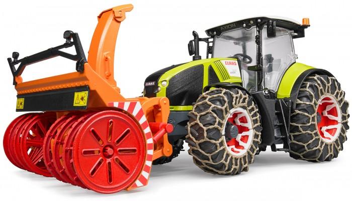 Купить Машины, Bruder Трактор Claas Axion 950 c цепями и снегоочистителем