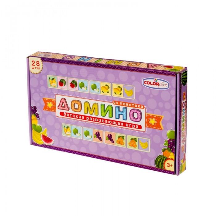Настольные игры Colorplast Детское домино с рисунком Фрукты 28 элементов