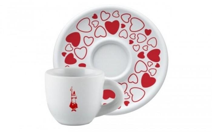 Посуда и инвентарь Bialetti Чашка для капучино Сердечки