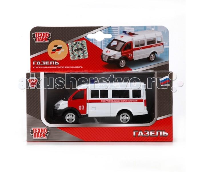 Машины Технопарк Машина Газель Скорая помощь X600-H09032-R машины технопарк машина газель такси
