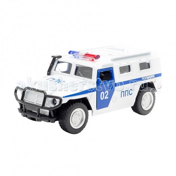 Машины Технопарк Машина Газ Тигр Полиция машинки технопарк машина технопарк металл инерционная урал самосвал 12см открывающиеся двери