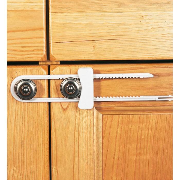 Блокирующие устройства Clippasafe Защитный замок для створчатых дверей блокирующие устройства бусинка фиксатор дверей