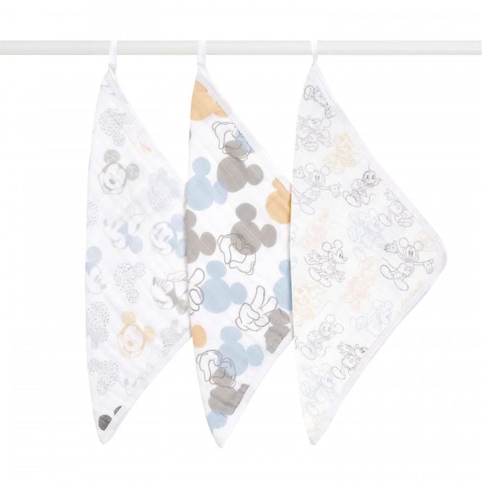 Полотенца Aden&Anais Муслиновые полотенца для лица и рук Mickey+Minnie 3 шт.