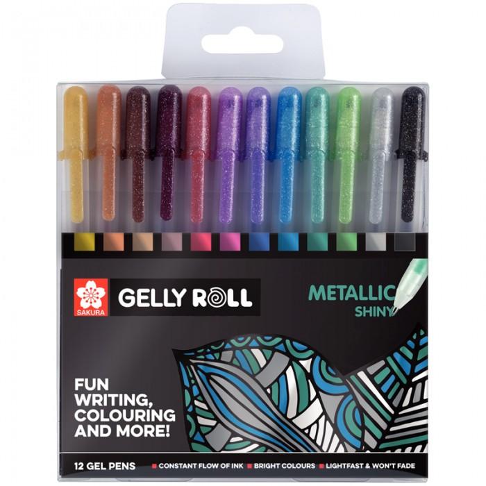 Ручки Sakura Набор гелевых ручек Gelly Roll Metallic 12 шт.