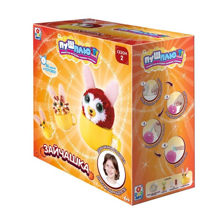 Наборы для творчества 1 Toy Пуш-Плюш Набор для творчества Зайчашка