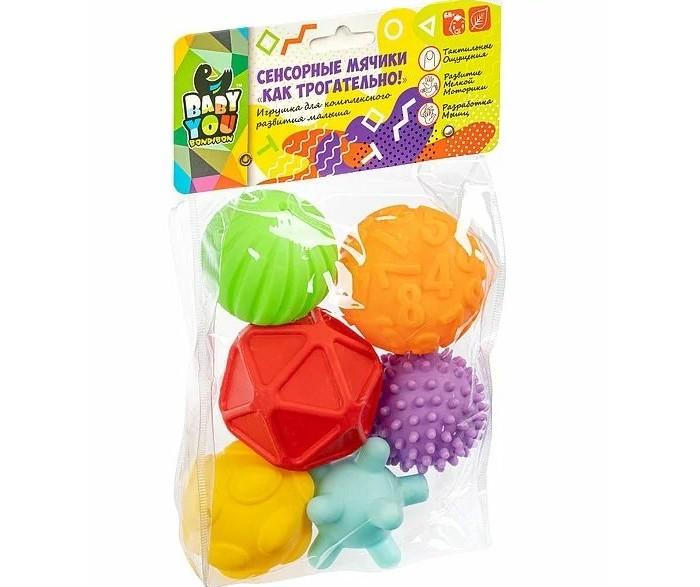 Развивающая игрушка Bondibon Сенсорные мячики Как трогательно! 6 шт. Сенсорные мячики Как трогательно! 6 шт.