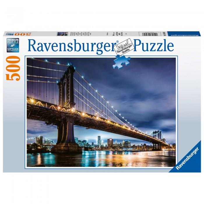 Купить Пазлы, Ravensburger Пазл Вид Нью-Йорка (500 элементов)